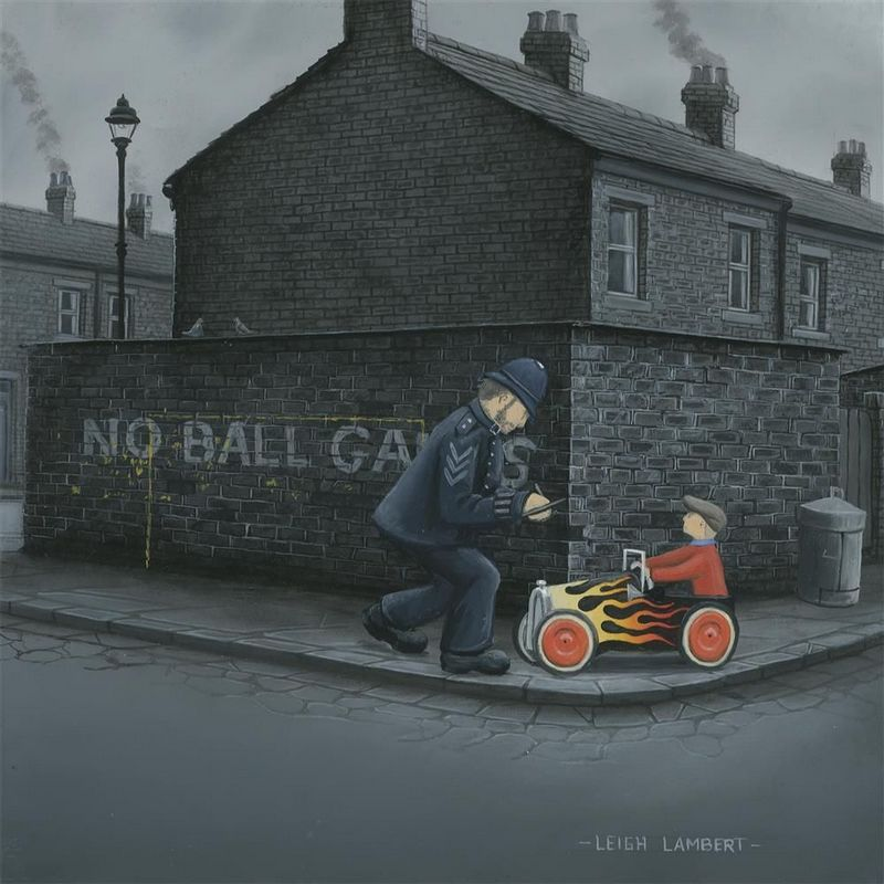 Driving License Please Sir - Canvas - Board Only by Leigh Lambert