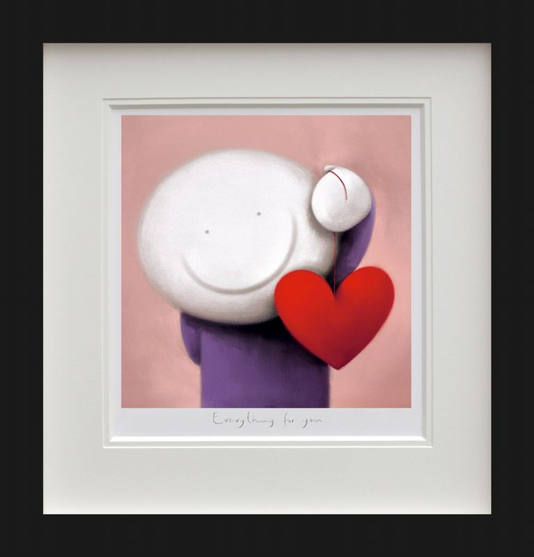 Everything For You - Black - Framed by Doug Hyde