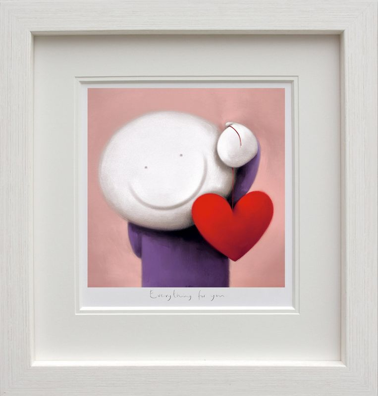 Everything For You - White - Framed by Doug Hyde