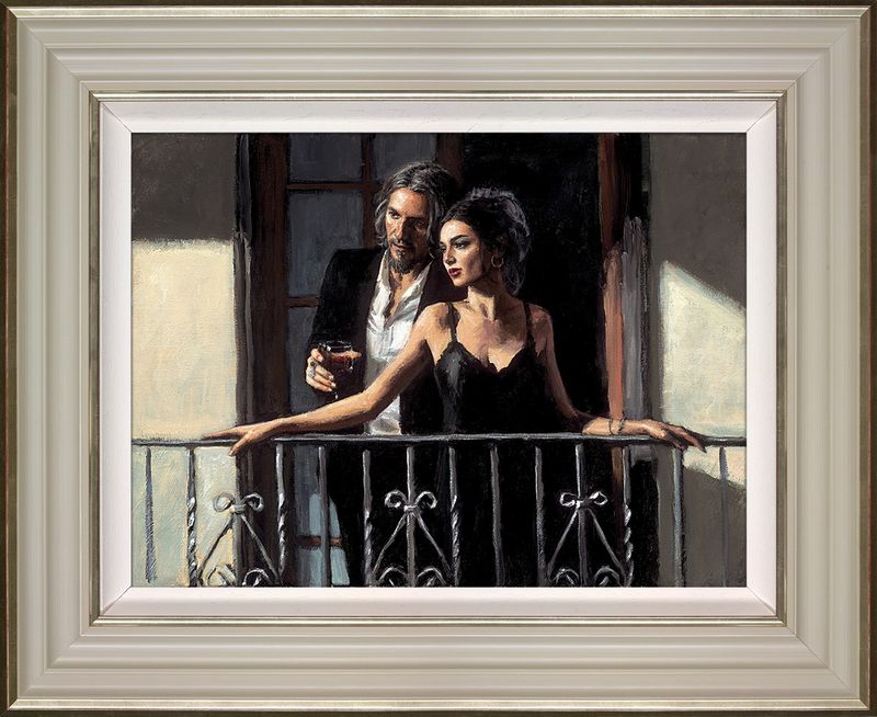 Fabian And Lucy At The Balcony II - Framed by Fabian Perez