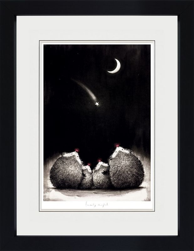 Family Night - Black - Framed by Doug Hyde