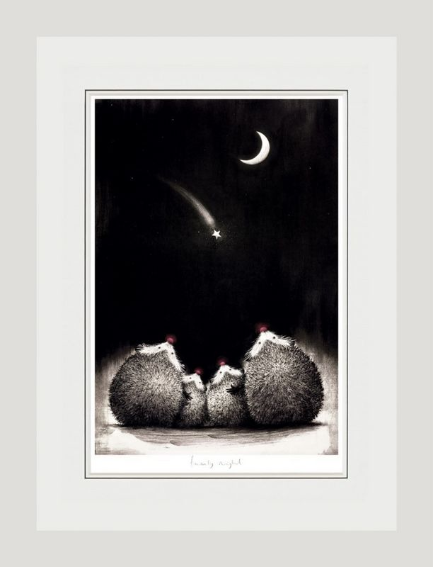 Family Night - White - Framed by Doug Hyde