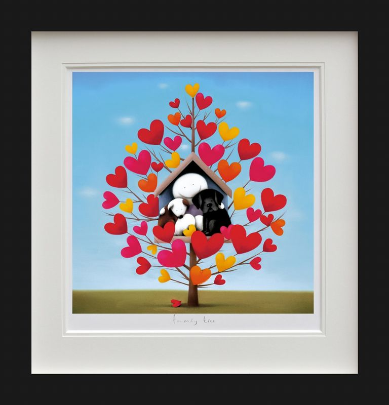 Family Tree - Picture - Black - Framed by Doug Hyde