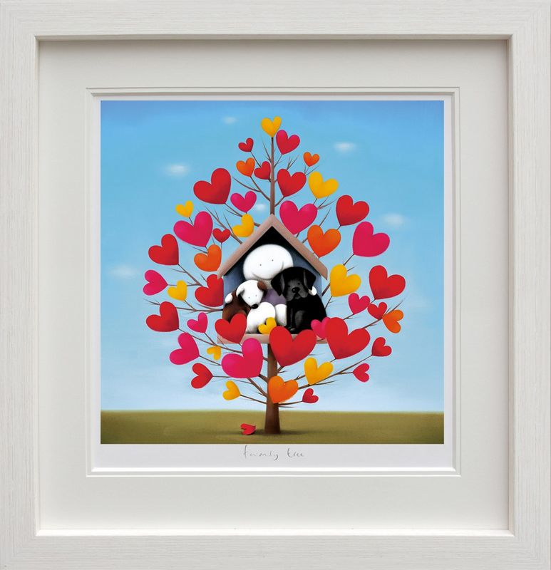 Family Tree - Picture - White - Framed by Doug Hyde