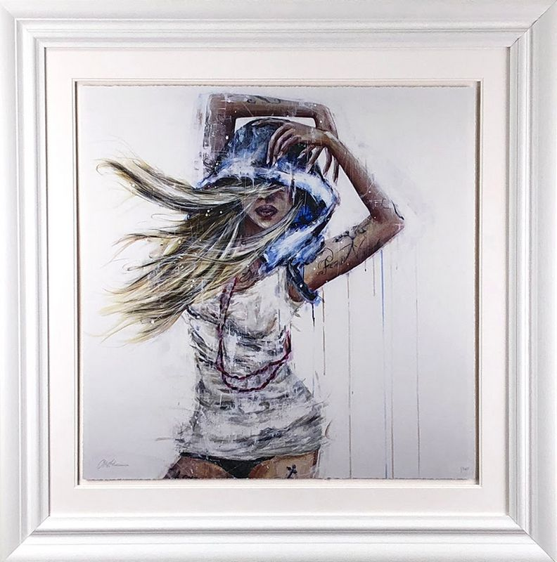 Fear Nothing - White Framed by Carly Ashdown