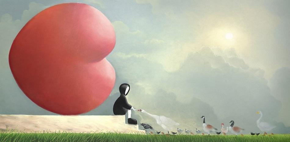 Feed The Birds  by Mackenzie Thorpe