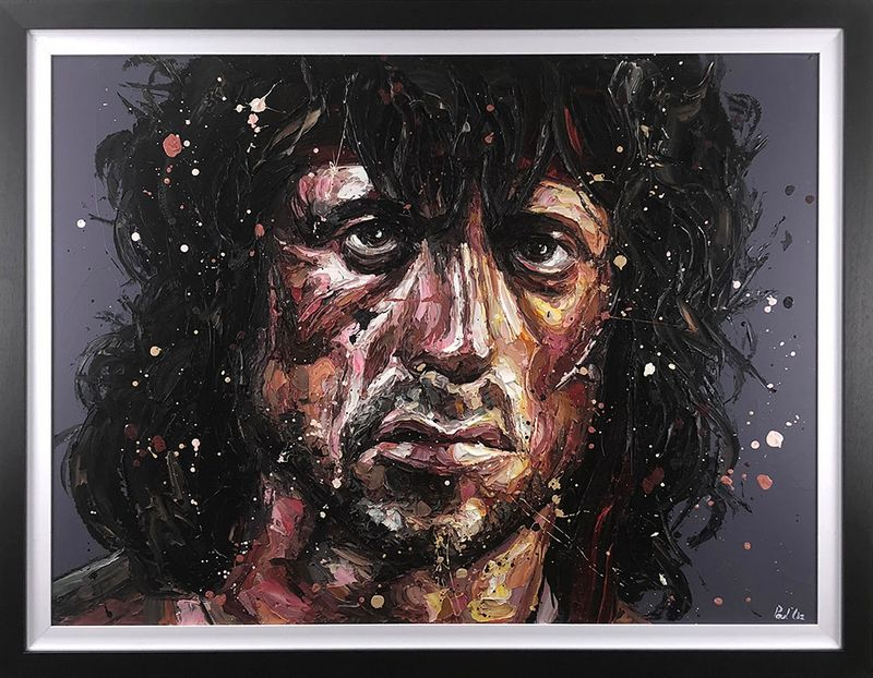 First Blood - Canvas  - Framed by Paul Oz