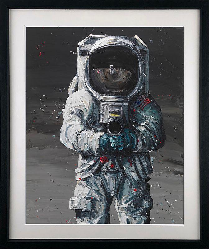 First Man - Artist Proof Black - Framed by Paul Oz