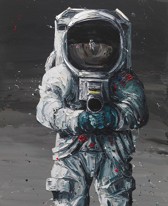 First Man  - Artist Proof - Mounted by Paul Oz