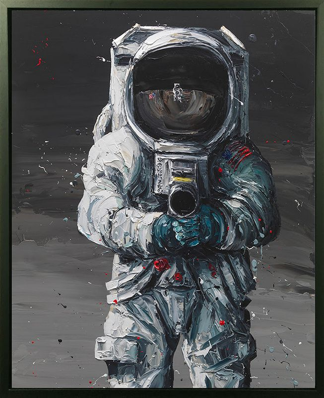 First Man - Canvas - Black Framed - Mounted by Paul Oz
