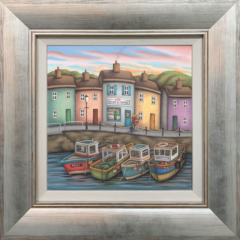 Fish And Chips - Framed by Paul Horton