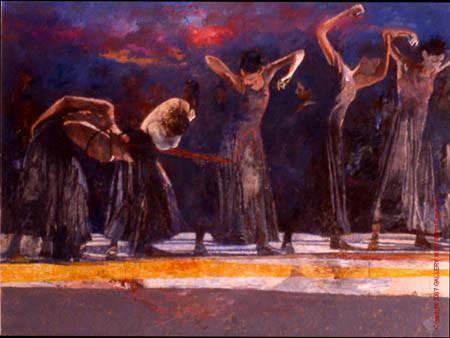 Five Dancers San Francisco by Robert Heindel