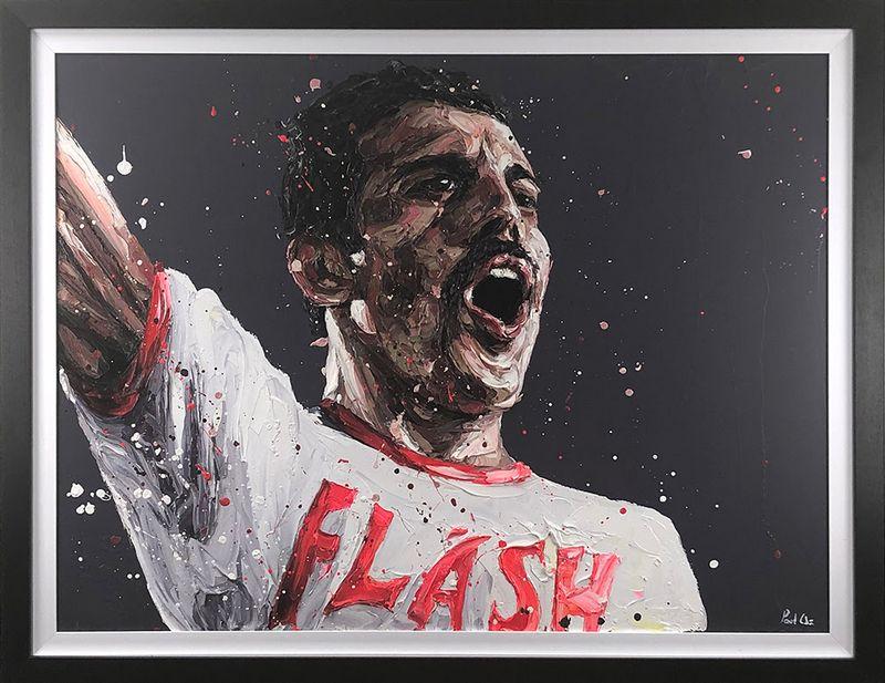 Flash - Canvas - Framed by Paul Oz