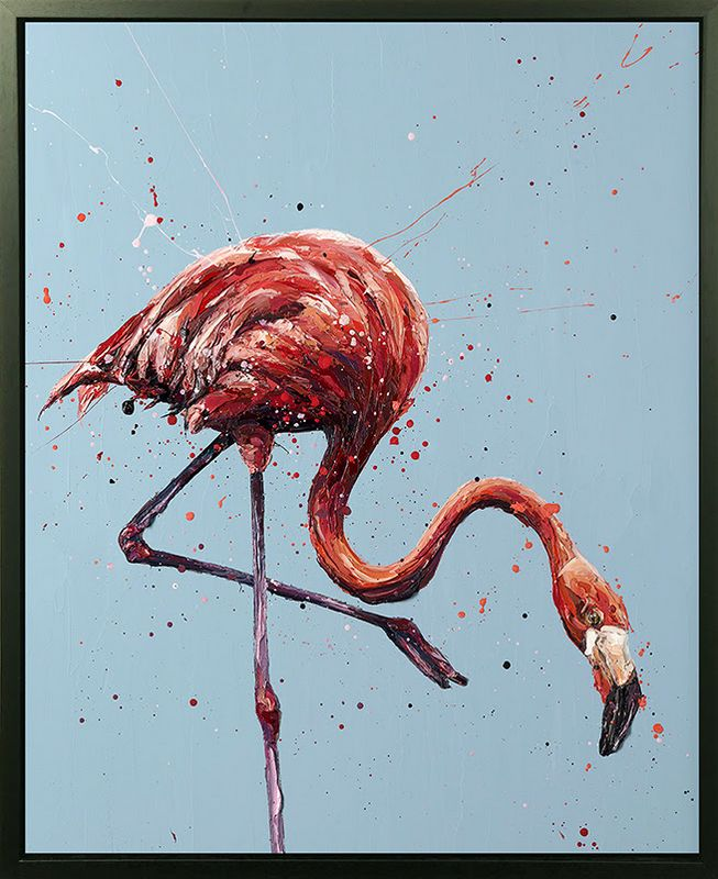 Floyd - Canvas - Artist Proof Black Framed Box Canvas by Paul Oz