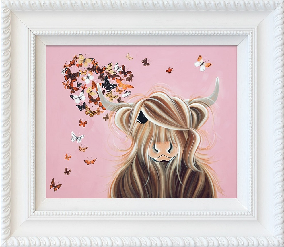 Flutterby Love - Framed by Jennifer Hogwood