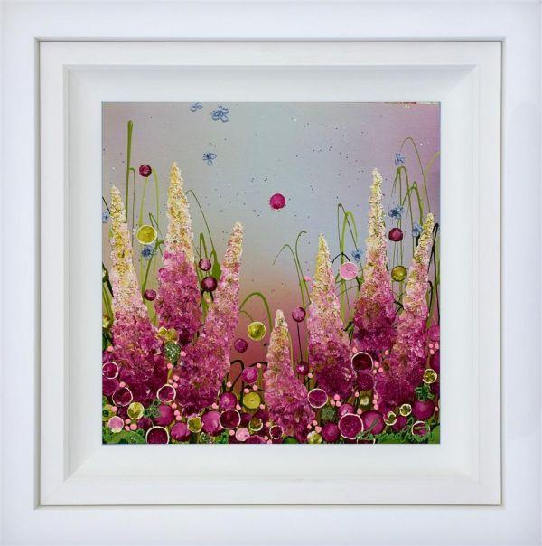 Forever Love - Original - White Framed by Leanne Christie