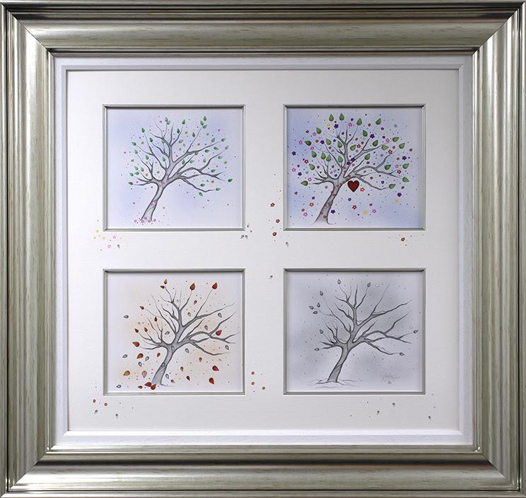 Four Seasons 2021 - Original Sketch - Silver - Framed by Kealey Farmer