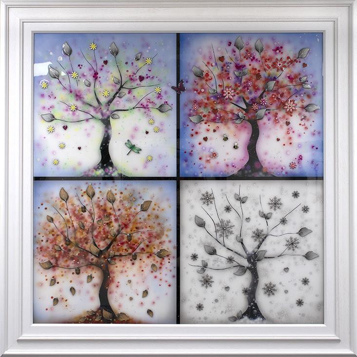 Four Seasons 2021 - Original -  White - Framed by Kealey Farmer