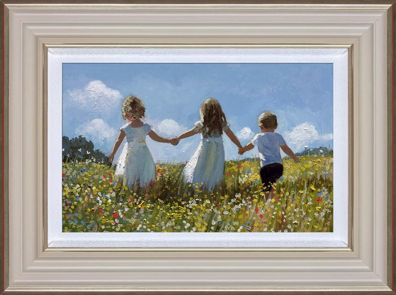 Friendship In The Meadow - Cream - Framed by Sherree Valentine Daines