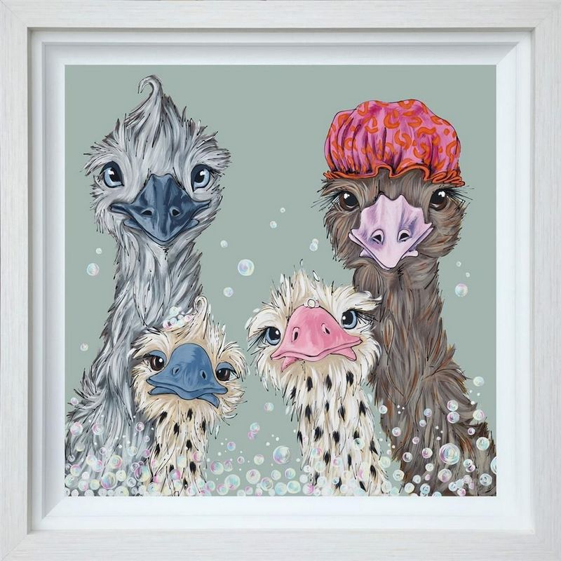 Fun In The Tub - Deluxe Edition - White Grain - Framed by Amy Louise
