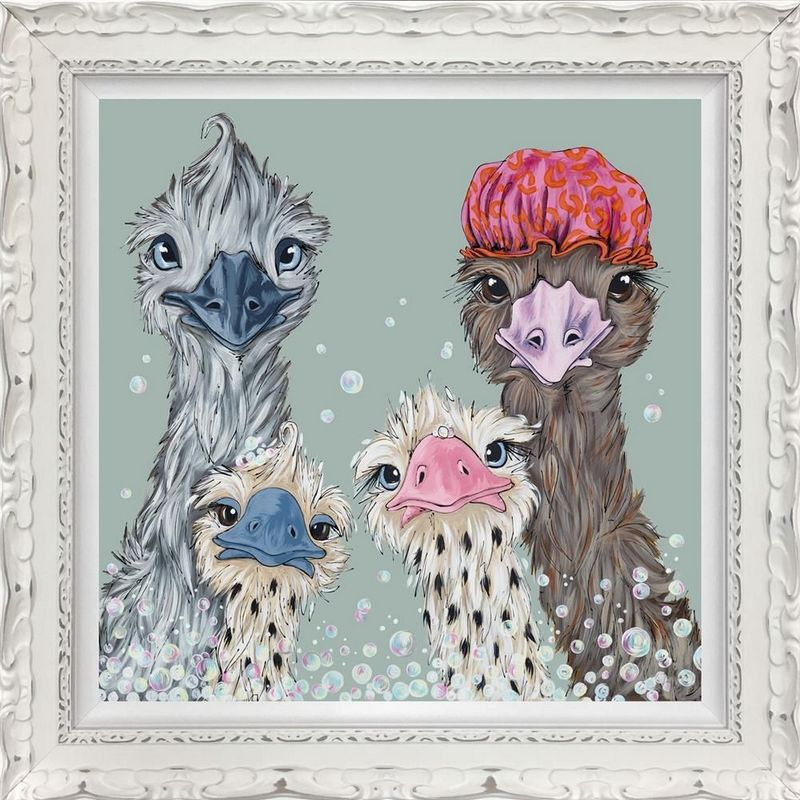Fun In The Tub - Standard Edition - Ornate White - Framed by Amy Louise