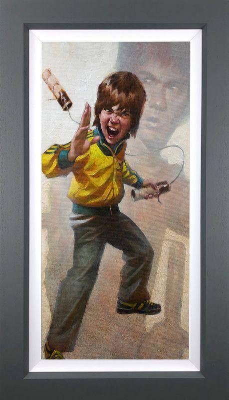 Game Of Daz - Canvas - Artist Proof Grey - Framed by Craig Davison