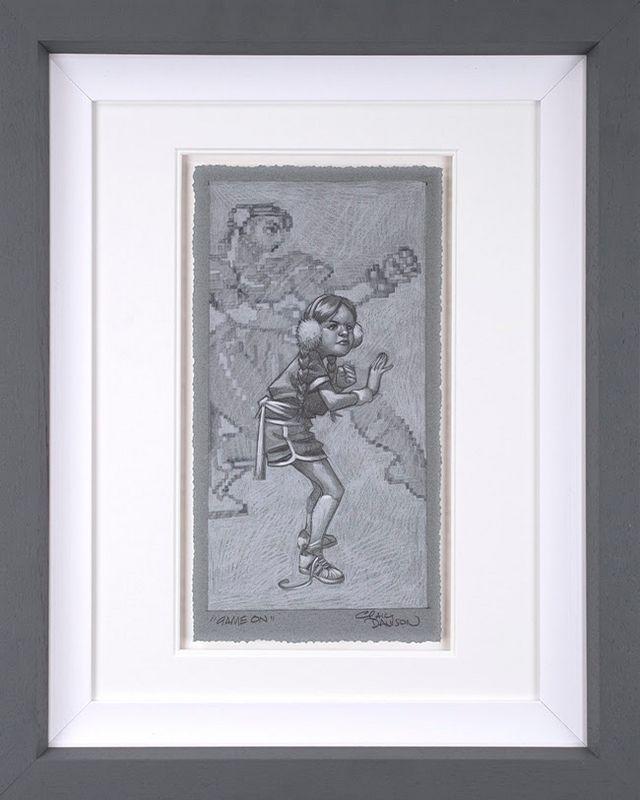 Game On - Sketch - Artist Proof Grey - Framed by Craig Davison