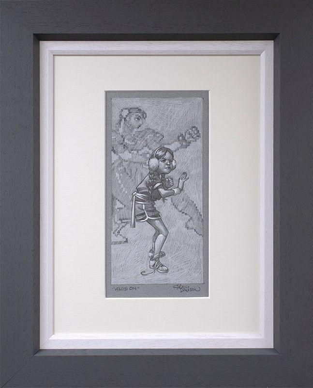 Game On - Sketch - Original - Grey - Framed by Craig Davison
