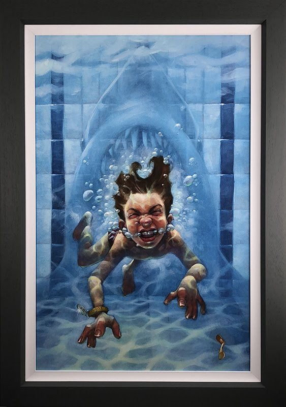 Get Out Of The Water (Jaws) - Canvas - Framed by Craig Davison