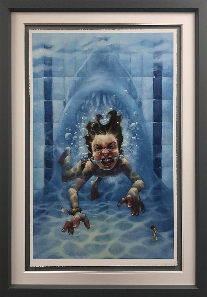 Get Out Of The Water (Jaws) - Framed by Craig Davison