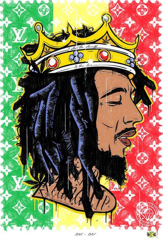 Get Up - Stand Up - Bob Marley - Original - Framed by JJ Adams