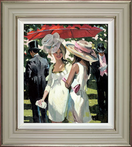 Glamorous Ladies Ascot - Framed by Sherree Valentine Daines