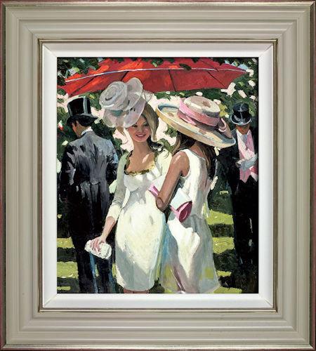 Glamorous Ladies Ascot - Framed