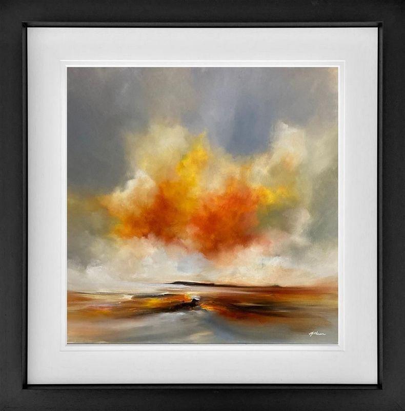 Golden Harmony - Black - Framed by Alison Johnson