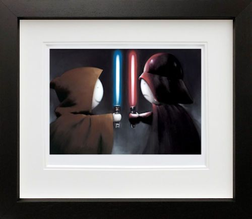 Good vs Bad - In Black - Framed by Doug Hyde
