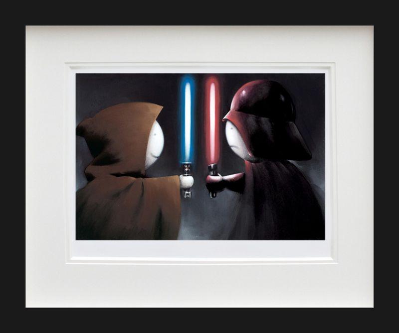 Good vs Bad - Black Framed by Doug Hyde