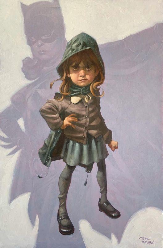 Gotham Girl - Mounted by Craig Davison