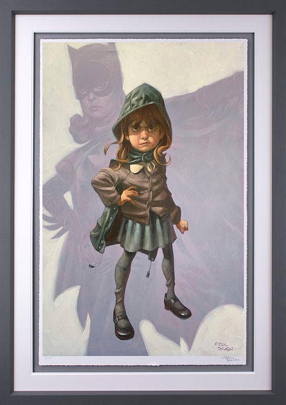 Gotham Girl - Grey - Framed by Craig Davison