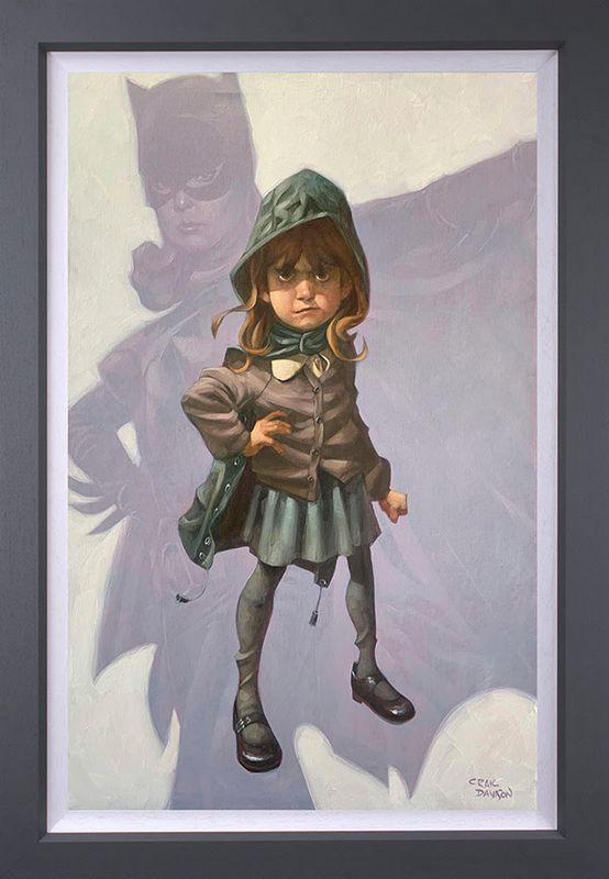 Gotham Girl - Original - Grey - Framed by Craig Davison