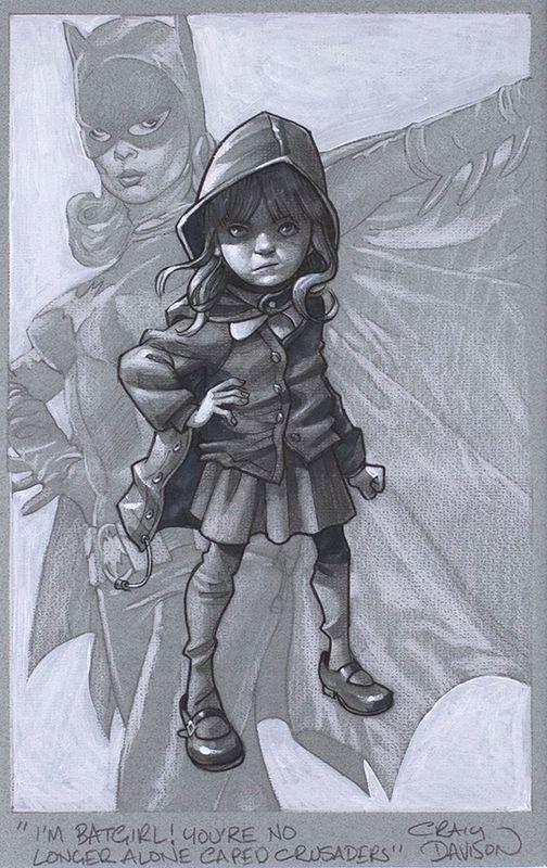 Gotham Girl - Sketch - Artist Proof - Mounted by Craig Davison