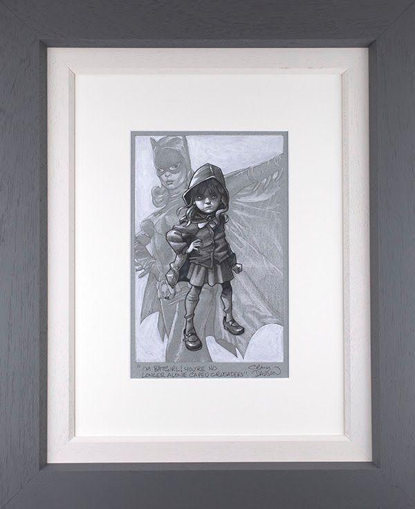 Gotham Girl - Sketch - Grey - Framed by Craig Davison