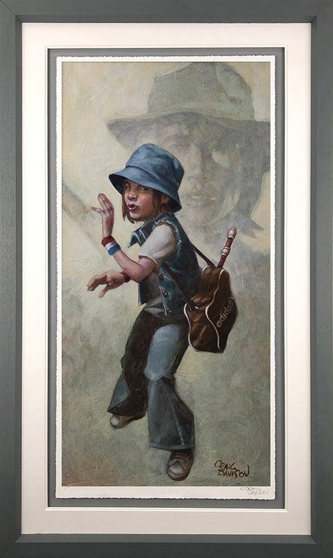 Grasshopper - Artist Proof Grey - Framed by Craig Davison