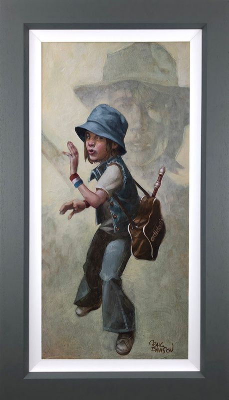 Grasshopper - Canvas - Grey - Framed by Craig Davison