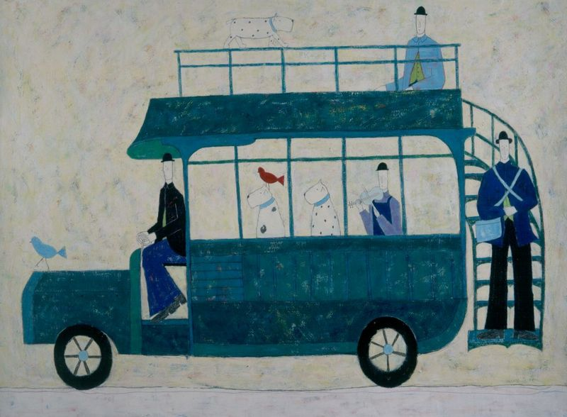 Green Bus by Annora Spence