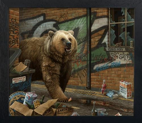 Grizzly - Framed Box Canvas - Framed Box Canvas by Paul James