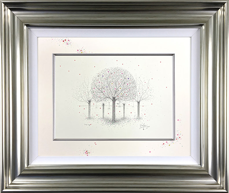 Group Hug - Original Sketch - Silver - Framed by Kealey Farmer