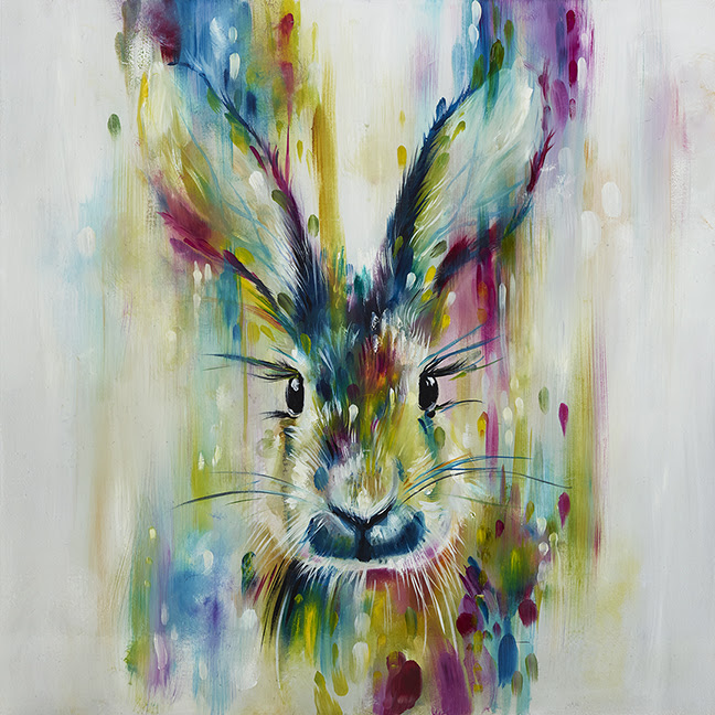 Hare - Escape (Large)  by Katy Jade Dobson