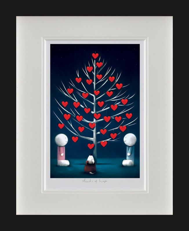Hearts Of Hope - Black Framed by Doug Hyde