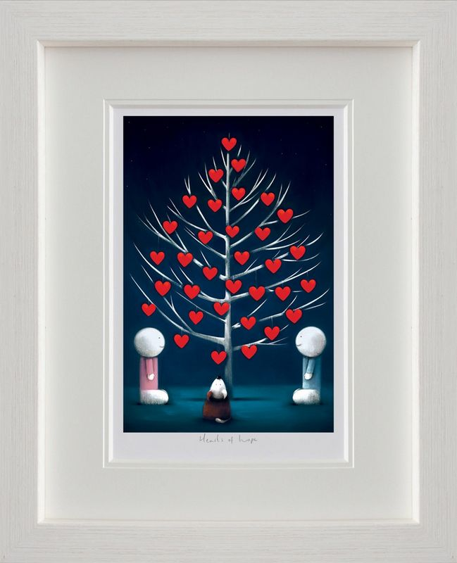 Hearts Of Hope - White Framed by Doug Hyde