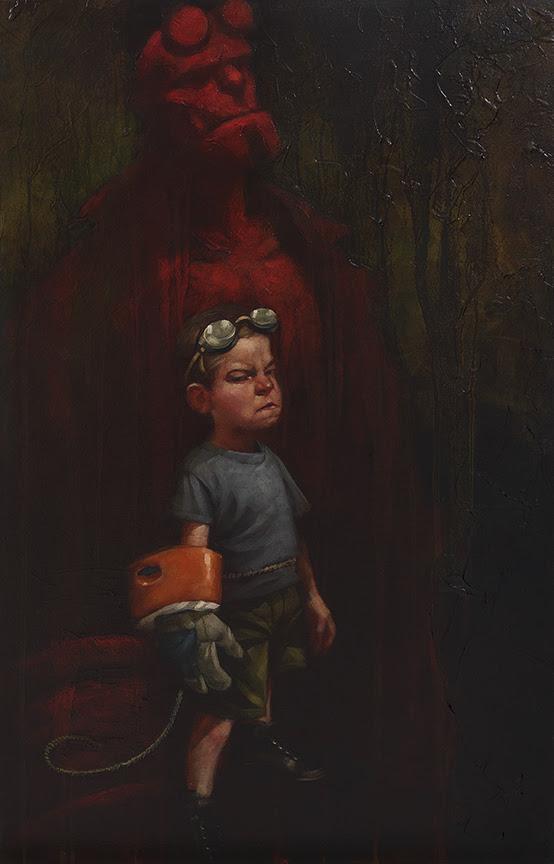 Hell Yeah (Hell Boy) - Canvas - Framed by Craig Davison